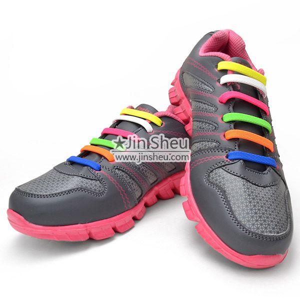 Silicone no tie shoelaces