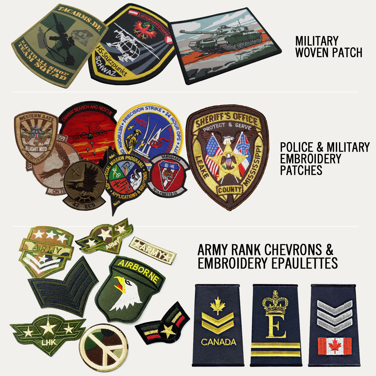 Military Embroidery Patches   Promotional Products & Items