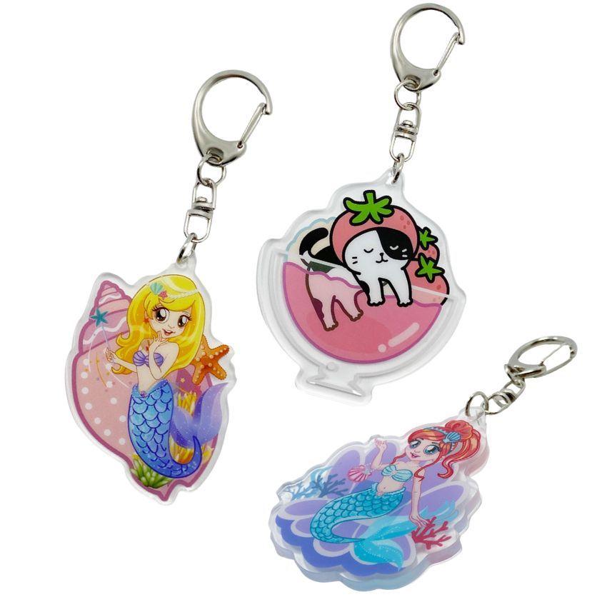 custom printing acrylic key chains