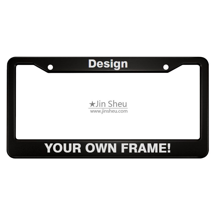 Plastic Honor Country US Army Motorcycle License Plate Frame