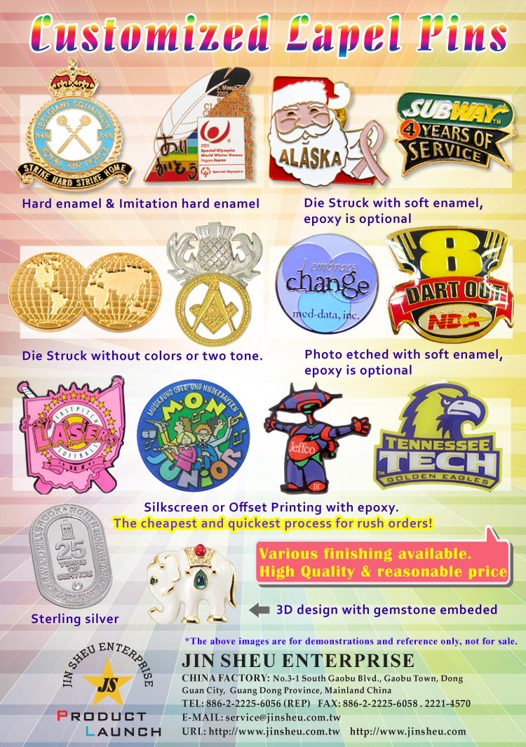 Custom Metal Lapel Pins   Gift and Premiums Items