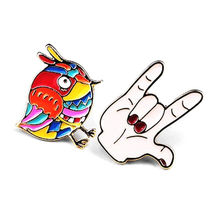 soft enamel lapel pin for kids Custom design hot sale popular enamel pin for Garment Accessories