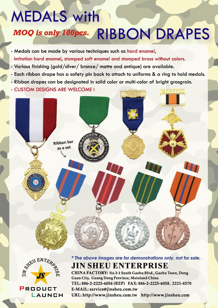 Custom Military Medals and Ribbons | Promotional Products & Items