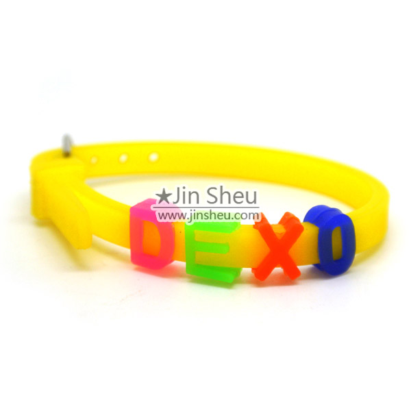 Personalized DIY Rubber Message Bracelets