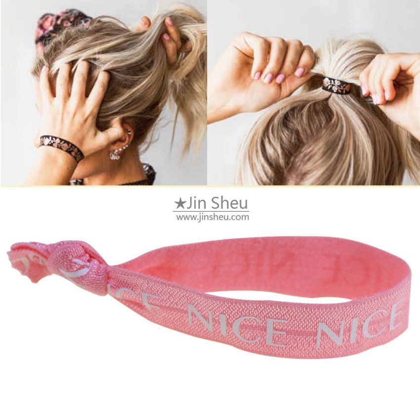 Custom Elastic Hair Tie Wristbands