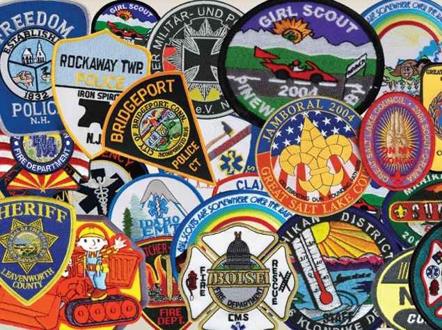 custom made iron on embroidery patches