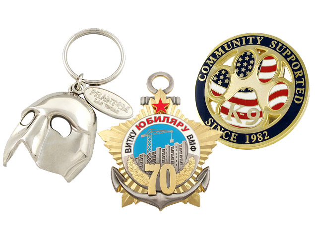 custom coins, medals and keychains