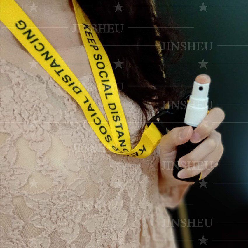Hand Sanitizer Holder Lanyard & Keychain