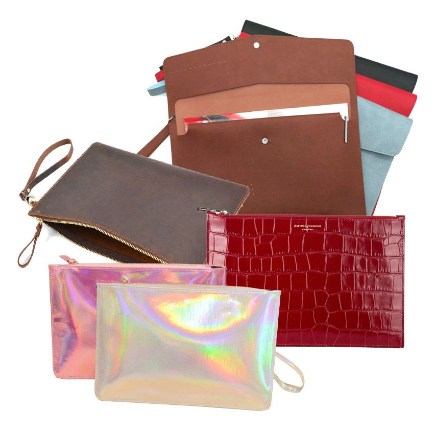 Leather Clutch Bag & File Folder Bag