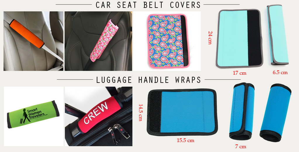custom neoprene seat belt covers