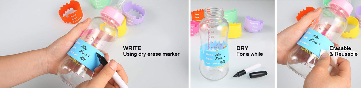 wholesale silicone baby bottle labels