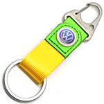 nylon strap leather keychain