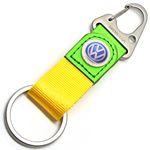 nylon strap leather keychain