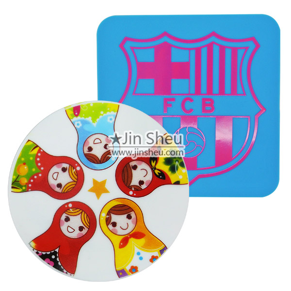silicone drink coaster with custom printed logo