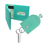 Card holders and key cases in vivid colour