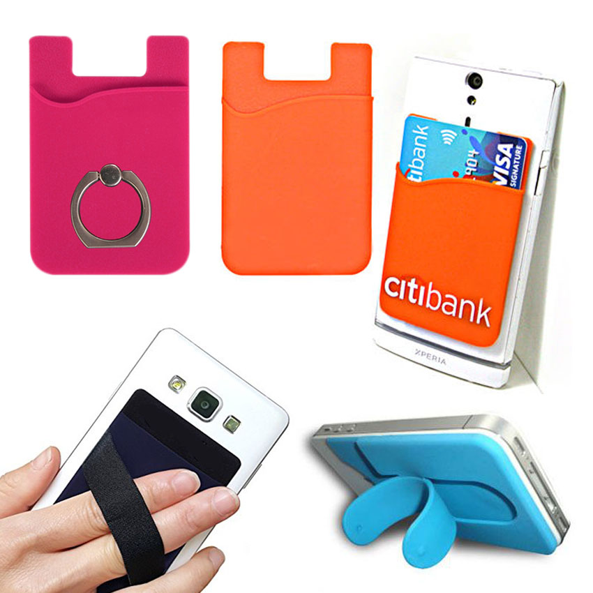 Self-adhesive Phone Card Holder Wallet