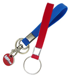 Custom made silicone strap trolley keyrings to promote your brand