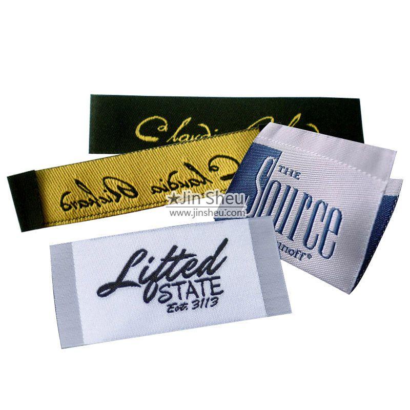 Hecho En Estados Unidos Coser en Ropa Tejida corte de etiqueta de la ropa y sellado Etiqueta de Satén