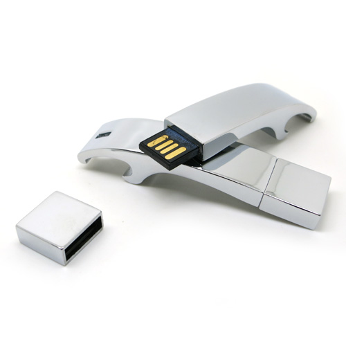 USB flash drives are typically removable and rewritable, and physically much smaller than an optical disc.