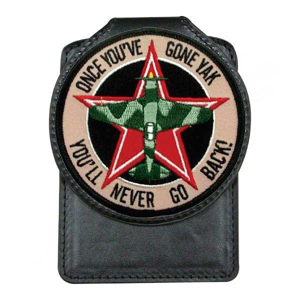 Custom Embroidered Emblem Leather Badge Holder