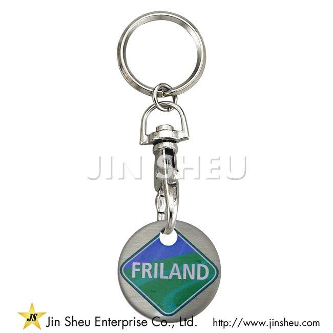 Rostfri Euro Trolley Coin Nyckelring  a01f967bf15f3