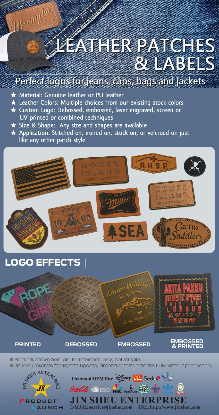 Customize Leather Patches & Labels