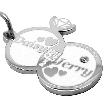 Metal Keychains - Custom Wedding Souvenir Keychains