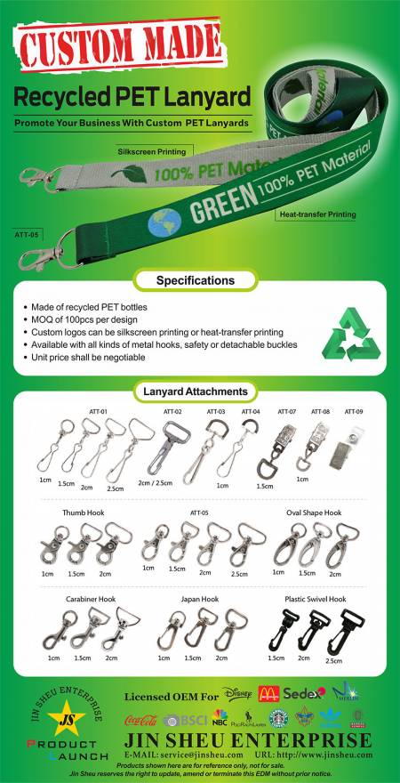Personalized Recycled PET Lanyard - ECO lanyards