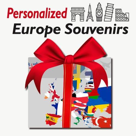 Personalized Europe souvenirs - Personalised memento gift