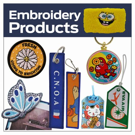 Custom made embroidery products - Personalized embroidery products