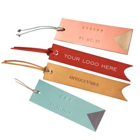 Leather Bookmarks - Personalised Leather Bookmark