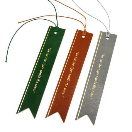 custom leatherette bookmarks