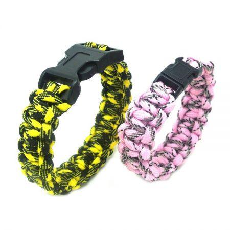 Multi-Colored Parachute Cord Bracelet - Parachute Cord Braids
