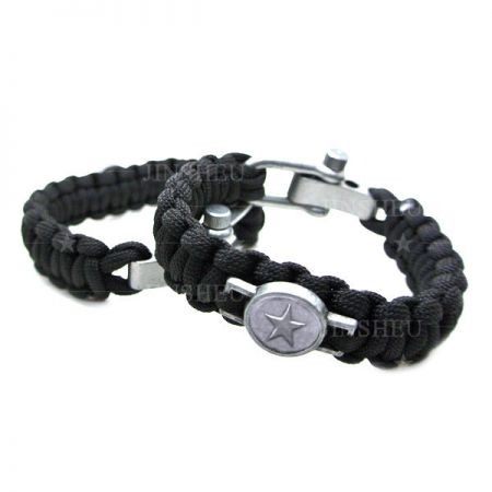 Custom Logo Tactical Bracelet With Metal Buckle - Tactical Paracord Bracelet