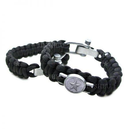 Custom Logo Tactical Bracelet With Metal Buckle - Tactical Paracord Bracelet