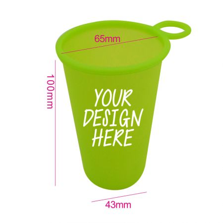 Reusable Silicone Cup for Travel - Collapsible Silicone Water Cup