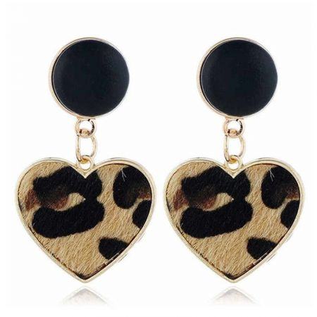 Personalized leather earring