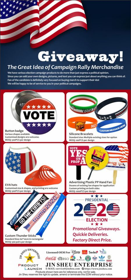 Custom Campaign Merchandise - Promotional Voting Items