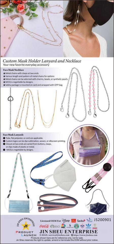 Custom Mask Holder Lanyard and Necklace - Wholesale Face Mask Lanyard