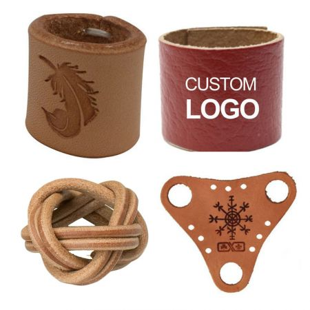 Leather Scarf Ring - Boy Scout Woggle