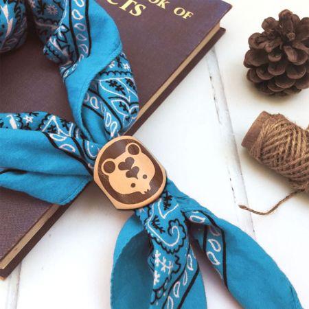 personalized woggle neckerchief slide