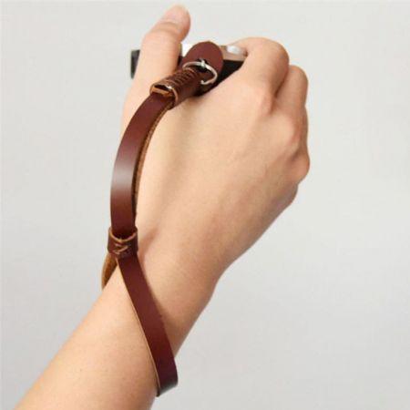 mens leather wrist strap
