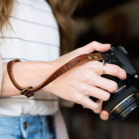 Personalized Leather Camera Strap