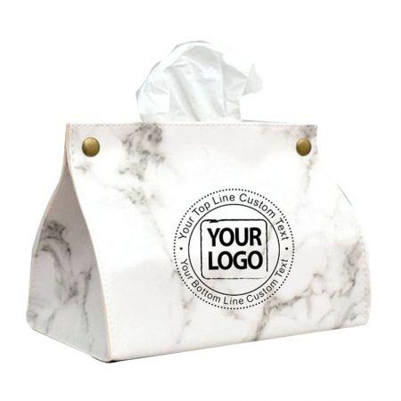 Customized Leather Tissue Box - Personalized Leather Tissue Holder