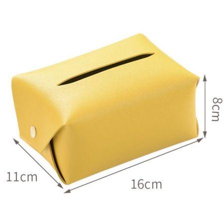 leather tissue holder