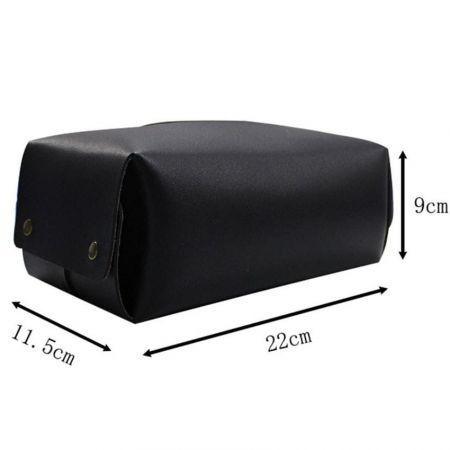 leather tissue box holder