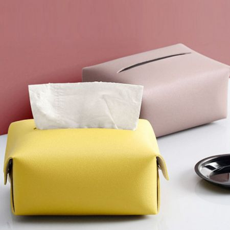 Wholesale leather tissue box cover
