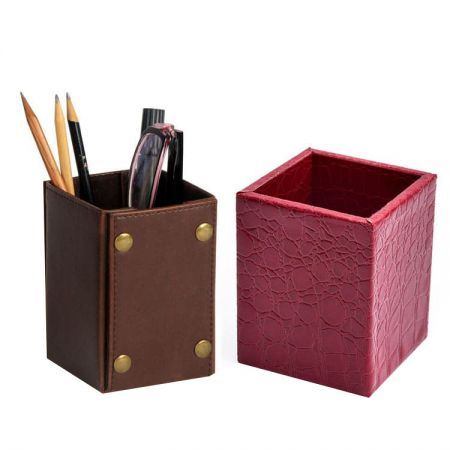pen stand leather