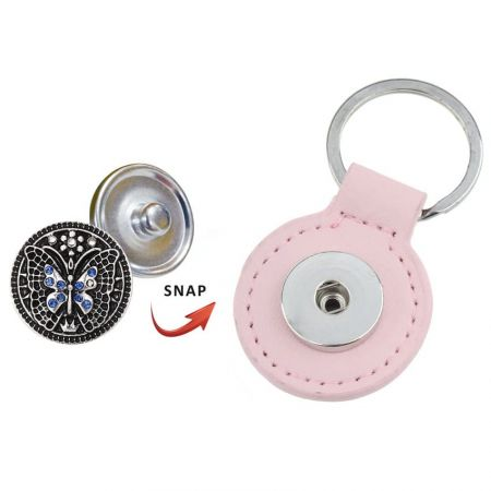 Leather Snap Keychain + Snap Buttons - Leather Snap Keychain on sale