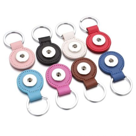 snap button keychain